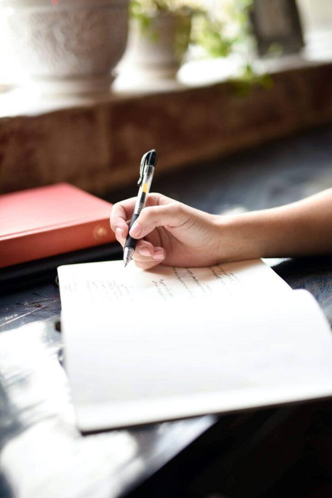 Usa un cuaderno volcamiento